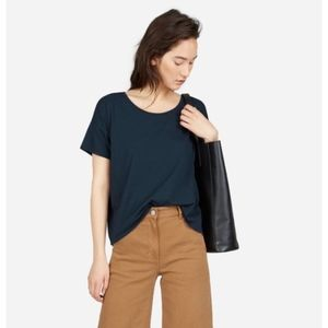 Everlane Boxy Navy Tee